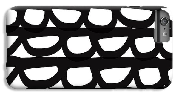 Contemporary iPhone 7 Plus Case - Black And White Pebbles- Art By Linda Woods by Linda Woods