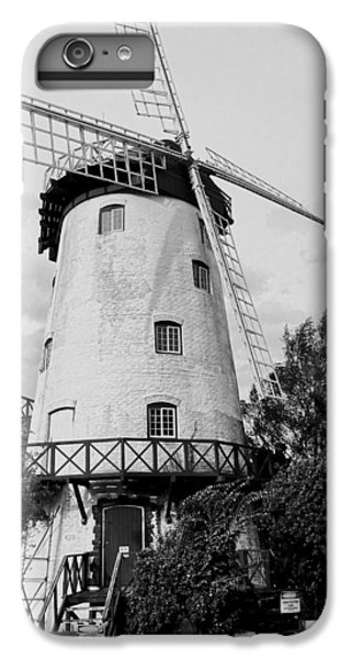 Black And White Windmill IPhone 7 Plus Case by Sandy Taylor