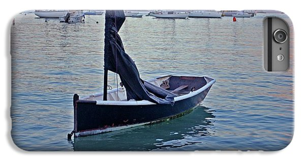 Shrimp Boats iPhone 7 Plus Case - Black Boat And The Sunrise by Michael Thomas