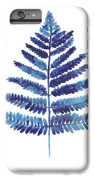 Garden iPhone 7 Plus Case - Blue Ferns Watercolor Art Print Painting by Joanna Szmerdt