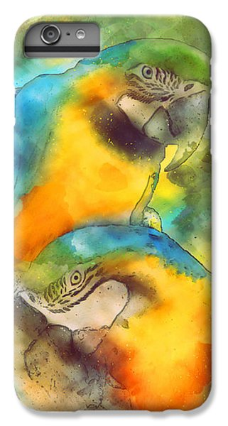 Blue N Gold Macaws IPhone 7 Plus Case by Methune Hively