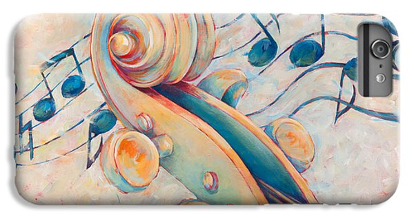 Violin iPhone 7 Plus Case - Blue Notes by Susanne Clark