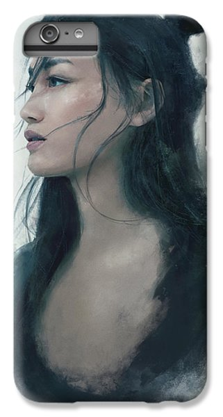 Blue Portrait IPhone 7 Plus Case by Eve Ventrue