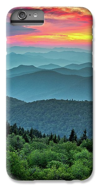 Blue Ridge Parkway Sunset - The Great Blue Yonder IPhone 7 Plus Case