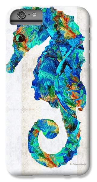 Blue Seahorse Art By Sharon Cummings IPhone 7 Plus Case