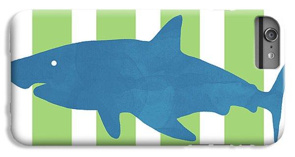 Hammerhead Shark iPhone 7 Plus Case - Blue Shark 1- Art By Linda Woods by Linda Woods