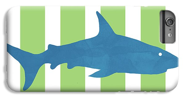 Hammerhead Shark iPhone 7 Plus Case -  Blue Shark 2- Art By Linda Woods by Linda Woods