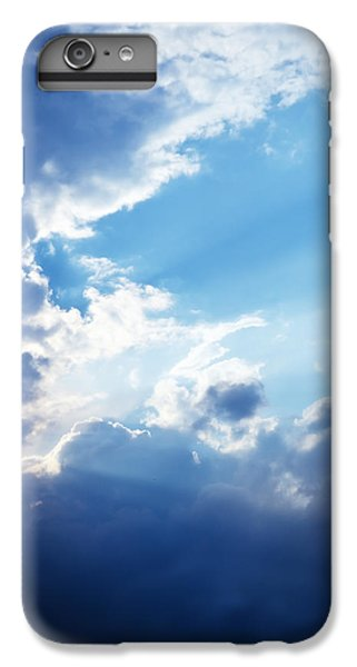 Blue Sky And Clouds With Sun Light IPhone 7 Plus Case