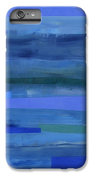 Pattern iPhone 7 Plus Case - Blue Stripes 1 by Jane Davies