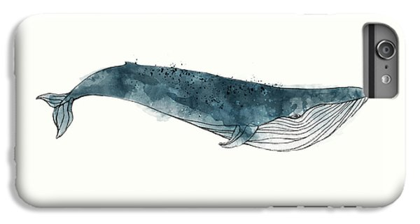 Whale iPhone 7 Plus Case - Blue Whale From Whales Chart by Amy Hamilton