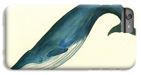 Whale iPhone 7 Plus Case - Blue Whale Painting by Juan  Bosco