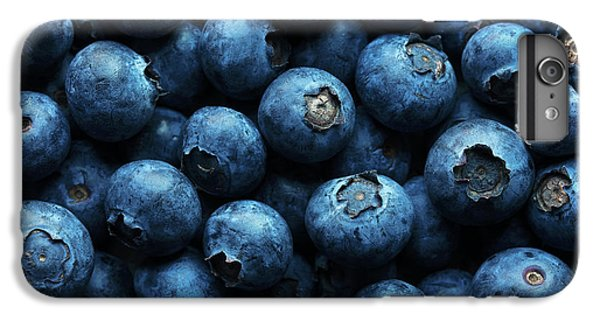 Blueberry iPhone 7 Plus Case - Blueberries Background Close-up by Johan Swanepoel