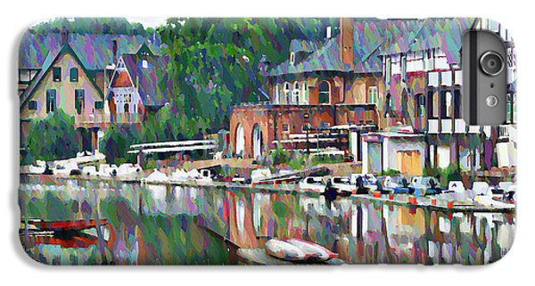 Boats iPhone 7 Plus Case - Boathouse Row In Philadelphia by Bill Cannon