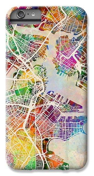 Boston iPhone 7 Plus Case - Boston Massachusetts Street Map by Michael Tompsett