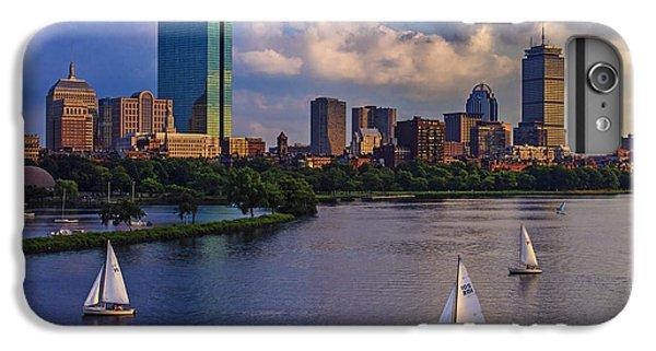 Boats iPhone 7 Plus Case - Boston Skyline by Rick Berk