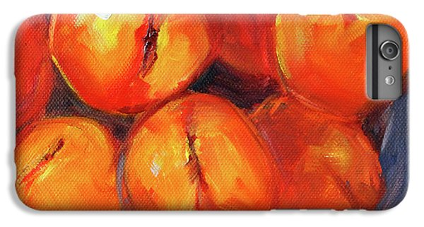 Bowl Of Peaches Still Life IPhone 7 Plus Case by Nancy Merkle