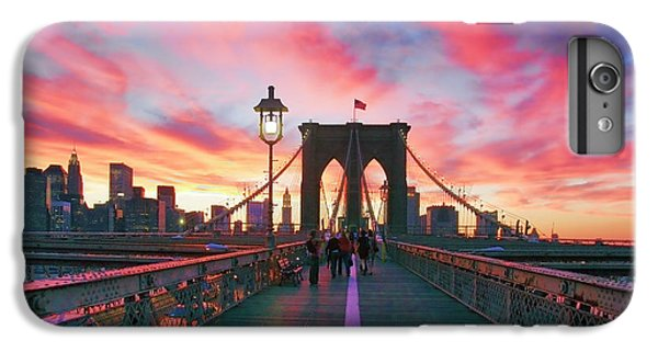 New York City iPhone 7 Plus Case - Brooklyn Sunset by Rick Berk