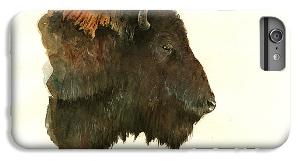 Buffalo iPhone 7 Plus Case - Buffalo Portrait Head by Juan  Bosco