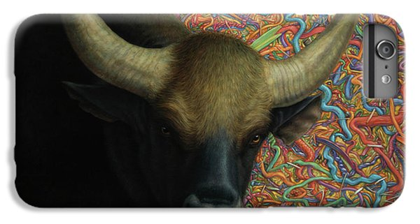 Bull iPhone 7 Plus Case - Bull In A Plastic Shop by James W Johnson