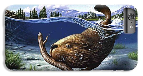 Beaver iPhone 7 Plus Case - Busy Beaver by Jerry LoFaro