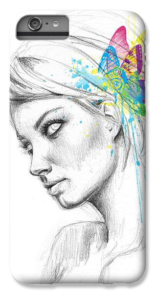 Fairy iPhone 7 Plus Case - Butterfly Queen by Olga Shvartsur