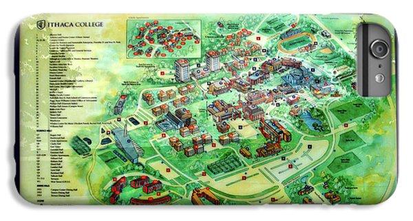 Campus Map Ithaca College.Campus Map Iphone 7 Plus Cases Fine Art America