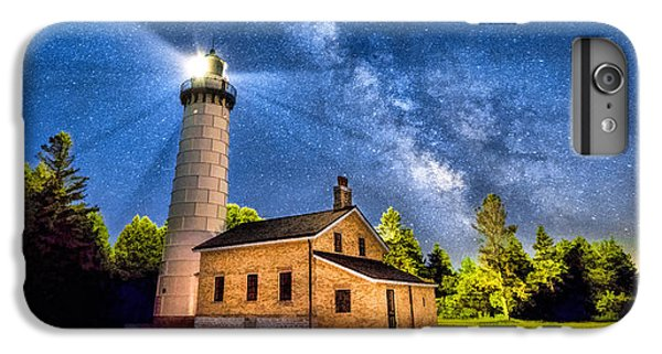 Cana Island Lighthouse Milky Way In Door County Wisconsin IPhone 7 Plus Case by Christopher Arndt