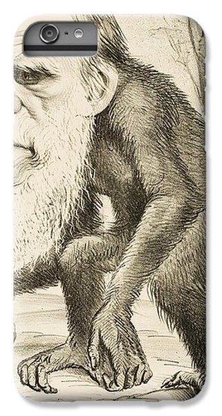 Caricature Of Charles Darwin IPhone 7 Plus Case by English School