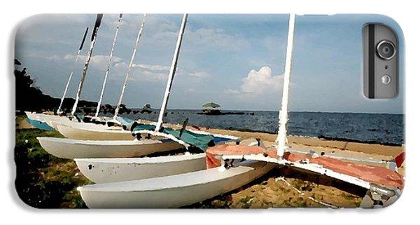 Shrimp Boats iPhone 7 Plus Case - Cats by Michael Thomas