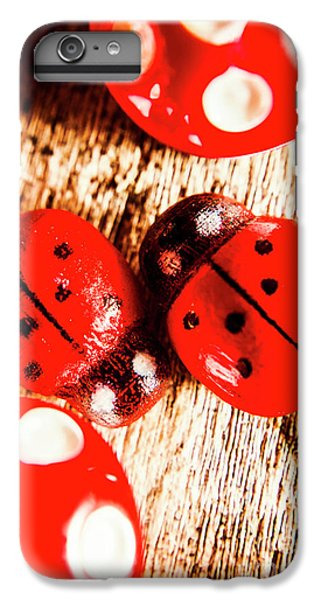 Ladybug iPhone 7 Plus Case - Caught The Love Bug by Jorgo Photography - Wall Art Gallery