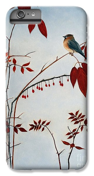 Cedar Waxing iPhone 7 Plus Case - Cedar Waxwing by Laura Tasheiko