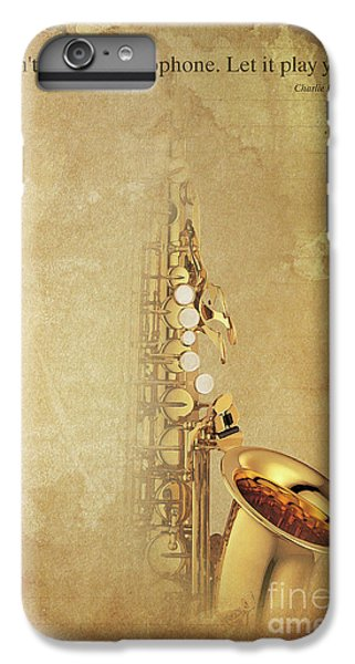 Charlie Parker Saxophone Brown Vintage Poster And Quote, Gift For Musicians IPhone 7 Plus Case by Pablo Franchi