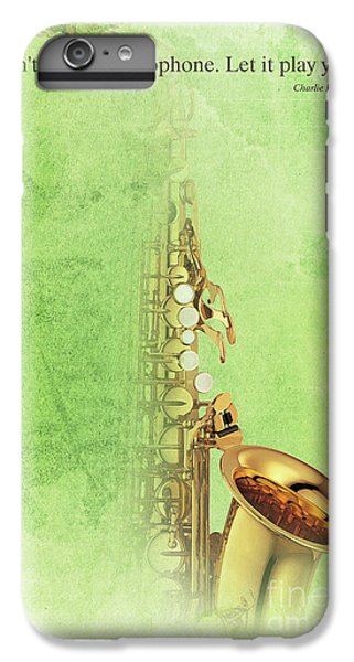 Charlie Parker Saxophone Green Vintage Poster And Quote, Gift For Musicians IPhone 7 Plus Case