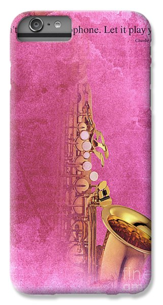 Charlie Parker Saxophone Light Red Vintage Poster And Quote, Gift For Musicians IPhone 7 Plus Case by Pablo Franchi