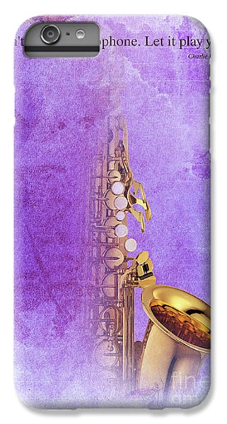 Charlie Parker Saxophone Purple Vintage Poster And Quote, Gift For Musicians IPhone 7 Plus Case by Pablo Franchi