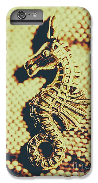 Seahorse iPhone 7 Plus Case - Charming Vintage Seahorse by Jorgo Photography - Wall Art Gallery
