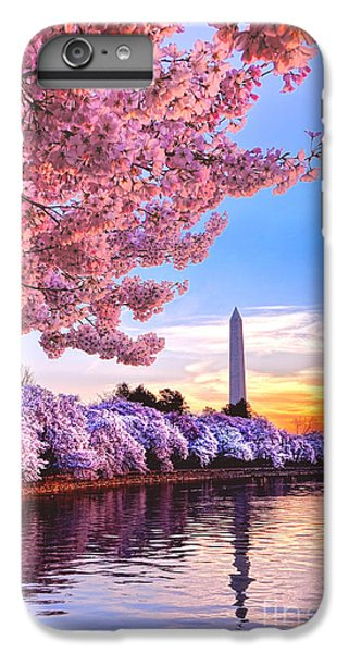 Washington Monument iPhone 7 Plus Case - Cherry Blossom Festival  by Olivier Le Queinec