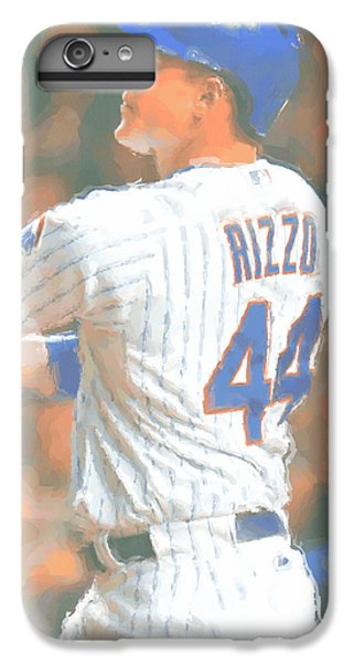 Chicago Cubs iPhone 7 Plus Case - Chicago Cubs Anthony Rizzo 2 by Joe Hamilton