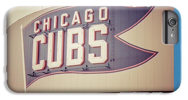 Chicago Cubs Sign Vintage Picture IPhone 7 Plus Case by Paul Velgos