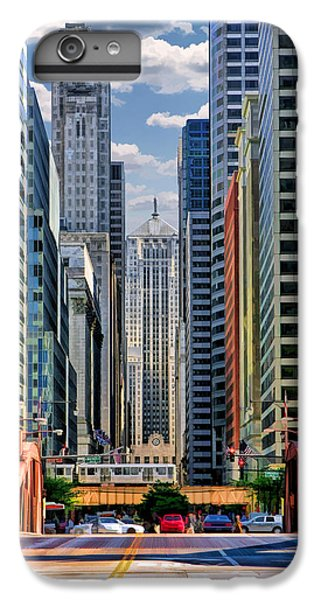 IPhone 7 Plus Case featuring the painting Chicago Lasalle Street by Christopher Arndt