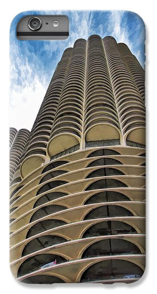 IPhone 7 Plus Case featuring the painting Chicago Marina Towers by Christopher Arndt