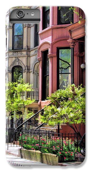 IPhone 7 Plus Case featuring the painting Chicago North Shore Greystones by Christopher Arndt