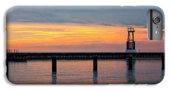 IPhone 7 Plus Case featuring the photograph Chicago Sunrise At North Ave. Beach by Adam Romanowicz