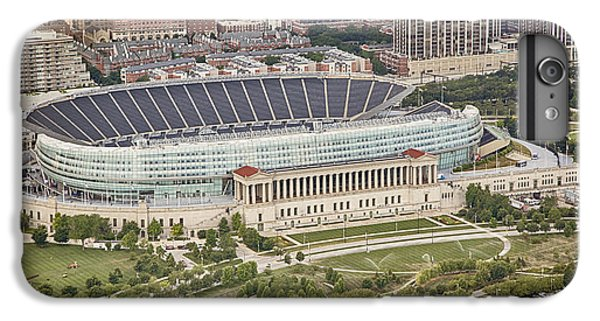 IPhone 7 Plus Case featuring the photograph Chicago's Soldier Field Aerial by Adam Romanowicz