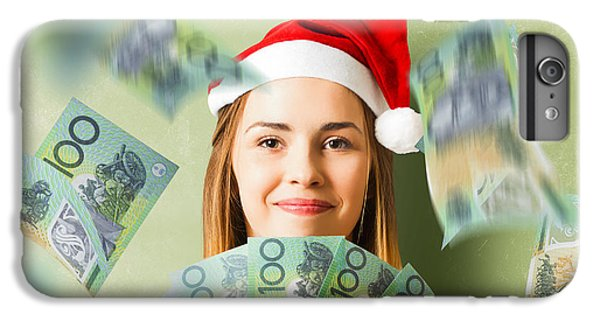 Donation iPhone 7 Plus Case - Christmas Woman With Australian Dollar Money Fan by Jorgo Photography - Wall Art Gallery