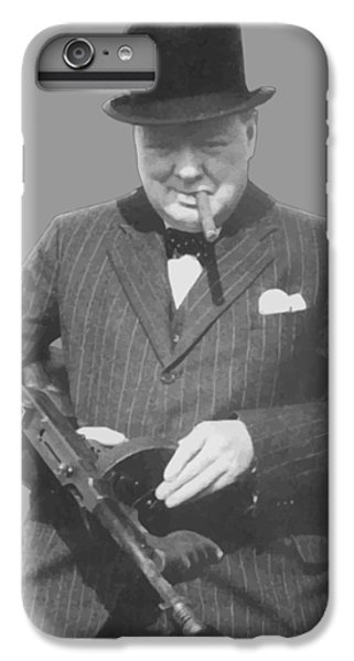 England iPhone 7 Plus Case - Churchill Posing With A Tommy Gun by War Is Hell Store