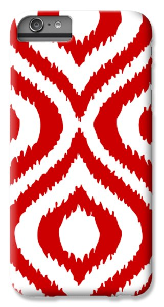 Circle And Oval Ikat In White T02-p0100 IPhone 7 Plus Case by Custom Home Fashions