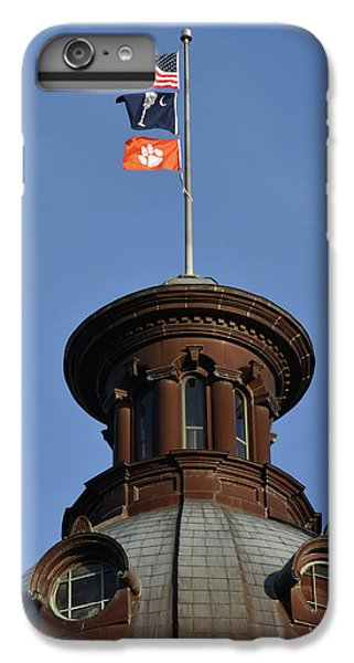 Clemson iPhone 7 Plus Case - Clemson Flag At State House by Rob Thompson