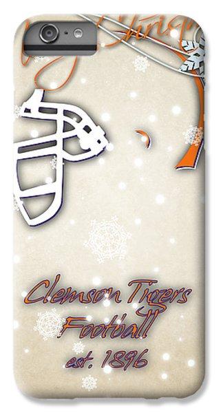 Clemson iPhone 7 Plus Case - Clemson Tigers Christmas Card 2 by Joe Hamilton