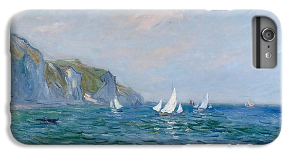 Boats iPhone 7 Plus Case - Cliffs And Sailboats At Pourville  by Claude Monet